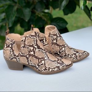 Women's Snakeskin Western Boots Fashion Shoes New